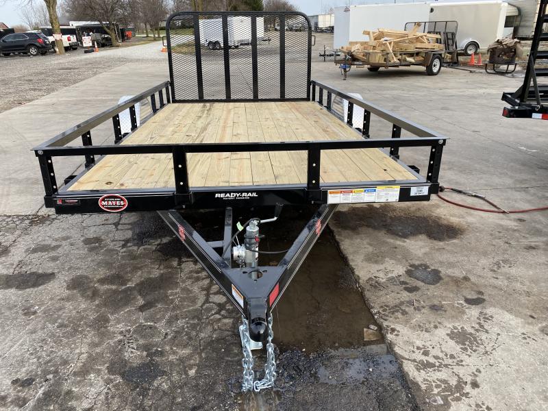 2021 PJ Trailers U8141 Utility Trailer - 83x14 (12+2) SA - Dovetail - Fold Up Gate (GVW:  2995)