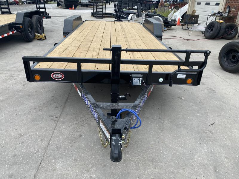 "2021 Load Trail XH8320072 Car / Racing Trailer - 83""x20' (18+2) TA - 6 Inch Channel Frame - DP Fenders - Rear Slide In Ramps - D-Rings (GVW:  14000)"