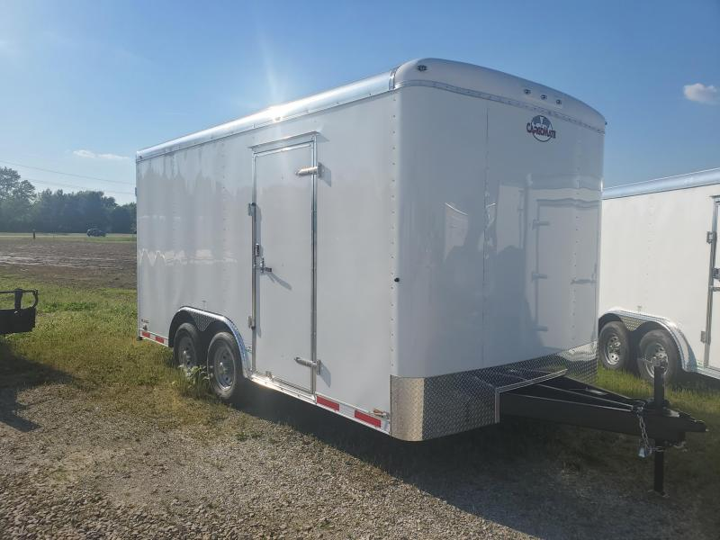 2022 Cargo Mate BL816TA2 Enclosed Cargo Trailer - 102X16 TA - Ramp Door - 12 Inch Additional Height - HD Cage Package - Alum. Roof (GVW:  14000)