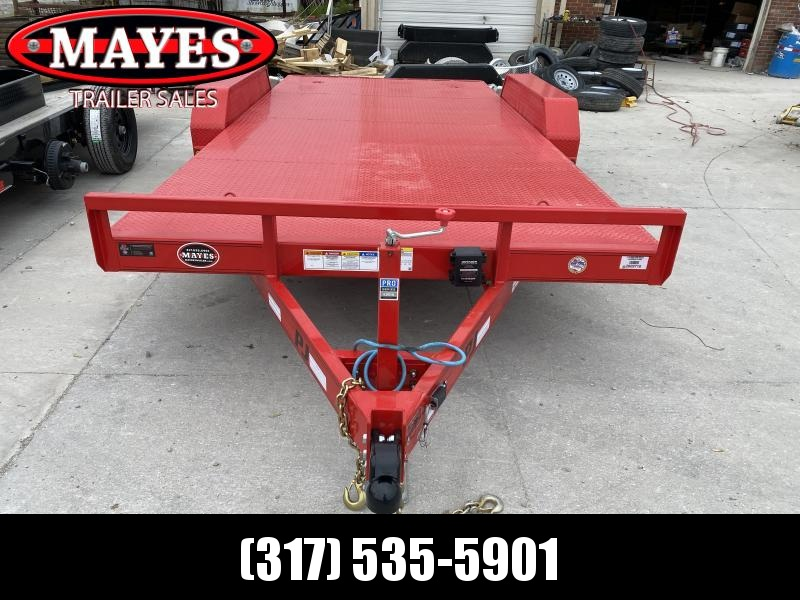 2020 PJ Trailers CE162 Equipment Trailer - 83x16 TA - Straight Deck - Steel Floor - D-Rings - (GVW: 9899)
