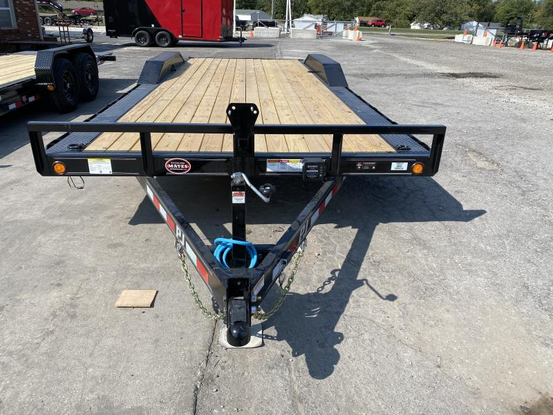 2021 PJ Trailers B5222 Car / Racing Trailer - 102x22 (20+2) TA Buggy Hauler - Dovetail - Slide In Ramps (GVW:  9899)