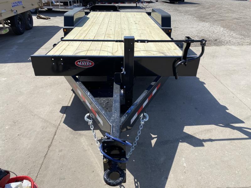 2021 B-B TBCT2016ET Equipment Trailer - 83X20 (4+16) TA Tilt - Torsion Axles - Pallet Fork Holders - Pintle Hitch (GVW:  16000)