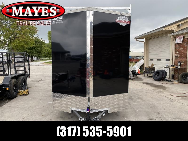 2021 Cargo Mate EHW612SA Enclosed Cargo Trailer - 6x12 SA - Double Door - 12 Inch Additional Height - Ladder Racks (GVW:  2990)