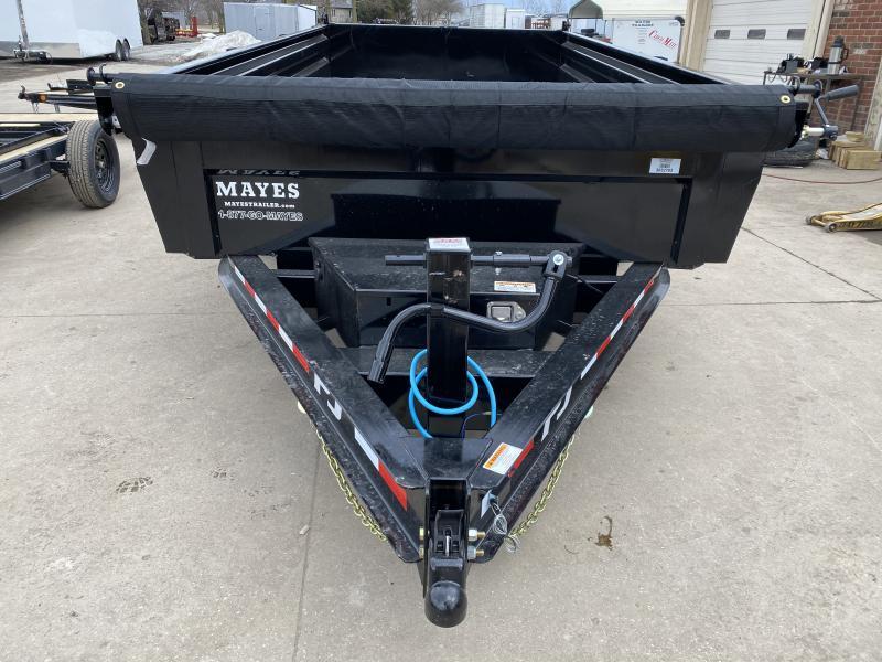 2021 PJ Trailers DL142 Dump Trailer - 83x14 TA Low Pro - Split/Spread Gate - Scissor Hoist - Tarp Kit - Ramps (GVW:  14000)