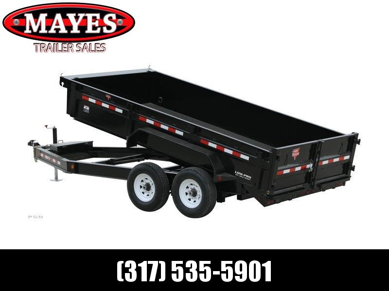 2021 PJ Trailers DL142 Dump Trailer - 83x14 TA Low Pro - Split/Spread Gate - Scissor Hoist - Tarp Kit - Ramps (GVW:  14000)