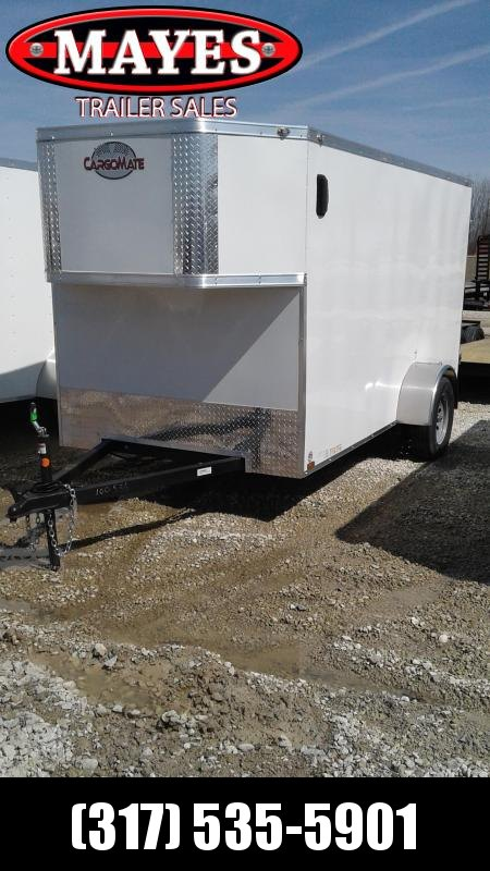 2020 6x12 Cargo Mate EHW612SA Enclosed Cargo Trailer - Rear Double Doors - Taper Front (GVW:  2990)