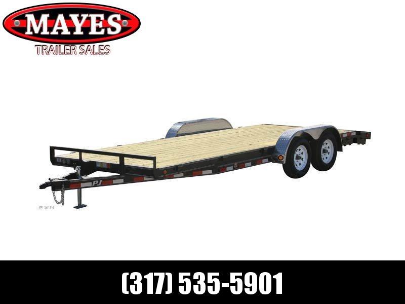 2021 PJ Trailers C5202 Car / Racing Trailer - 83x20 (18+2) TA - Dovetail - Rear Slide In Ramps - Treated Wood Floor (GVW:  7000)