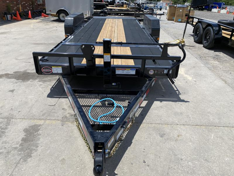 "2021 83x20(16' Tilt + 4' Stationary)  PJ Trailers T6 6"" Channel Equipment Tilt Trailer - (GVW: 14000)(Blackwood Pro Outer Deck)"