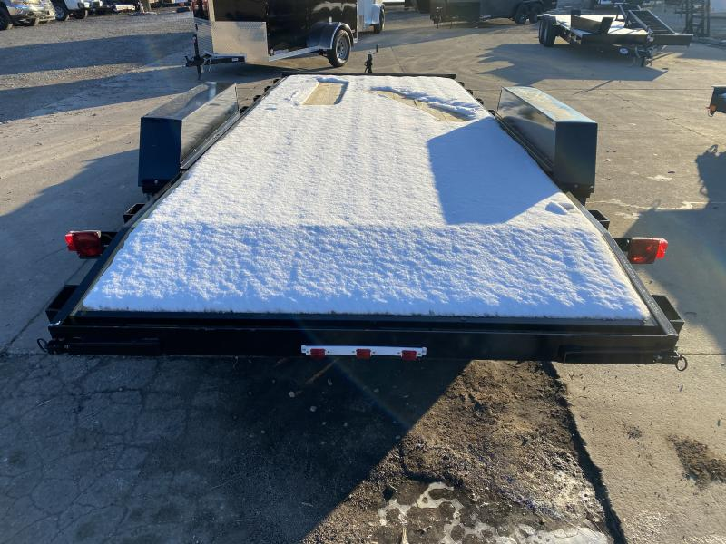 2021 American Manufacturing Operations (AMO) UT182 Utility Trailer - 82x18 (16+2) TA - Treated Wood Floor - Rear Slide In Ramps (GVW:  7000)