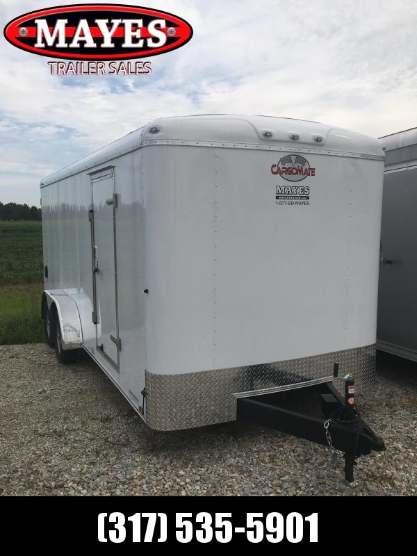 2021 7x18 Cargo Mate BL718TA2 Enclosed Cargo Trailer - White (RD)(GVW: 7000)