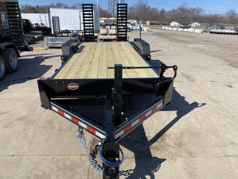 2021 B-B CBCT2014E-S Equipment Trailer - 83x20 (18+2) TA - DP Dovetail - D-Rings - Pallet Fork Holders - 5 Foot Spring Assist Flip Up Ramps (GVW:  14000)
