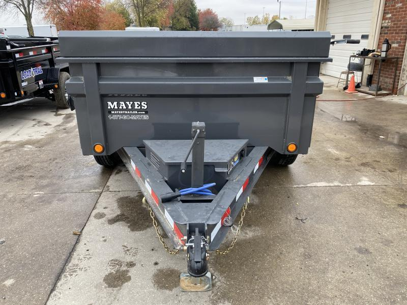 2021 Load Trail DT7210052 Dump Trailer - 72x10 TA Dump - Side Mount Ramps - 24 Inch Sides - 2 Way Gate - D-Rings - Tarp Kit - Scissor Hoist - Spare Tire MOUNT ONLY (GVW:  9990)