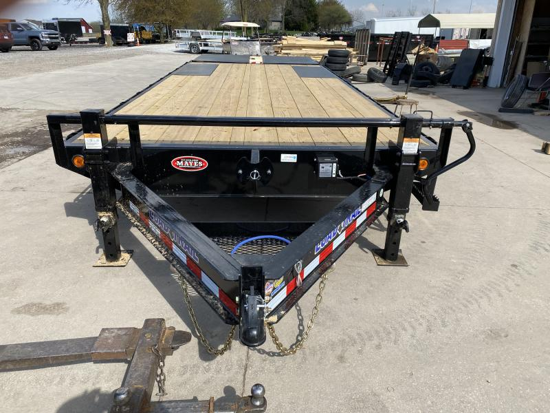 2021 Load Trail - PS0224072 Equipment Trailer - 102x24 (19+5) TA - Self Clean Dovetail - Max Ramps - Diamond Plate Over Wheels - LED Lights (GVW:  14000)