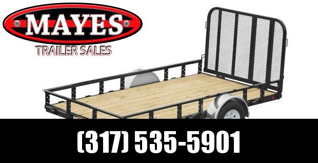2021 PJ Trailers U7141 Utility Trailer - 77x14 SA - Straight Deck - Fold In Gate - Treated Wood Floor (GVW:  2995)
