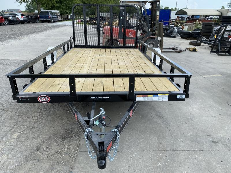 2021 83x12 PJ Trailers U8 Single Axle Channel Utility Trailer - w/ 4' Fold-in Gate (GVW: 2995)