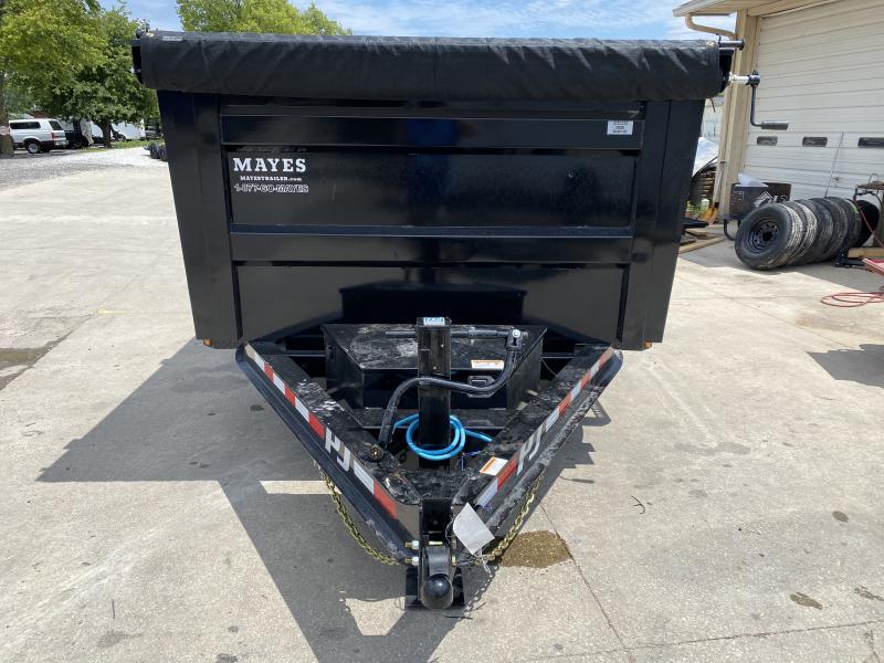 "2021 PJ Trailers 14'x83"" Low Pro High Side Dump Trailer - 83x14 TA Dump - Split/Spread Gate - 6"" Cylinder Upgrade (GVW:  14000)"