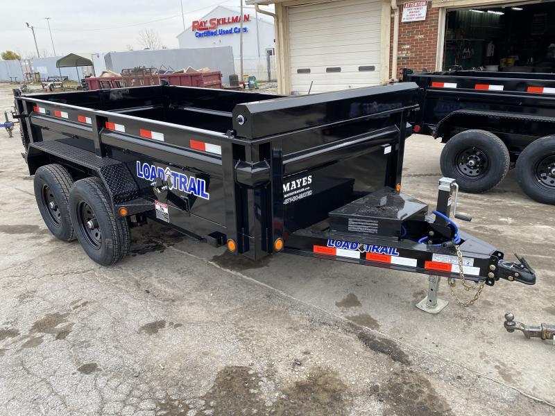 2021 Load Trail DT7212052 Dump Trailer - 72x12 TA - Tarp Kit - Scissor Hoist - 24 Inch Dump Sides - 2 Way Gate - Rear Slide In Ramps - Spare Tire MOUNT ONLY (GVW:  9990)