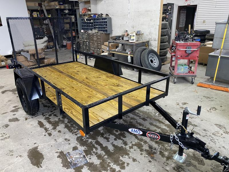 2021 American Manufacturing Operations (AMO) US101 Utility Trailer - 60 Inch x 10 Foot SA - Treated Wood Floor - Tailgate (GVW:  2990)