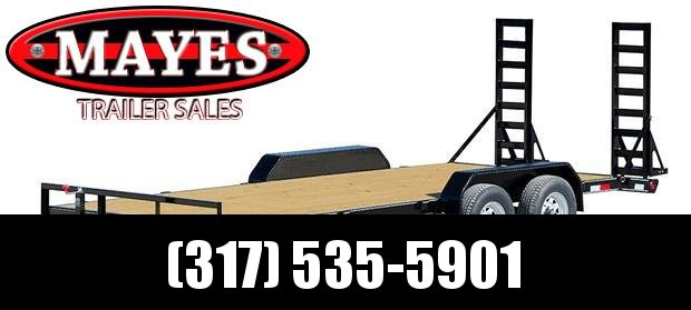 2021 PJ Trailers CE202 Equipment Trailer - 83x20 (18+2) TA - 5 Inch Channel - Dovetail - Split HD Gate - Spare Tire & Wheel (GVW:  9899)