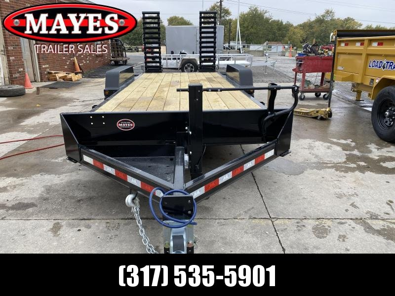 2021 B-B CBCT2016E-S Equipment Trailer - 83x20 (18+2) TA - Dovetail - D-Rings - Pallet Fork Holder - Spring Assist Flip up Ramps (GVW:  16000)