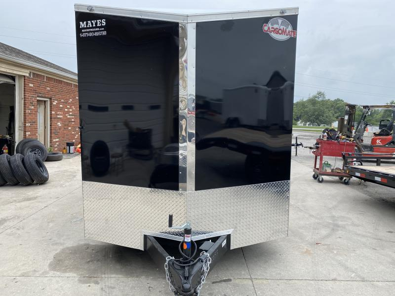 2021 Cargo Mate EHW716TA2 Enclosed Cargo Trailer 7x16 TA - Side by Side Package - 12 Inch Additional Height - Ramp Door - Slant V-Nose (GVW:  7000)