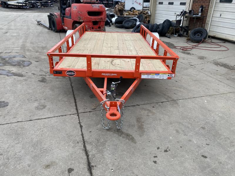 2021 PJ Trailers U2121 Utility Trailer - 72x12 SA - Straight Deck - Treated Wood Floor - NO Gate or Ramps (GVW:  2995)