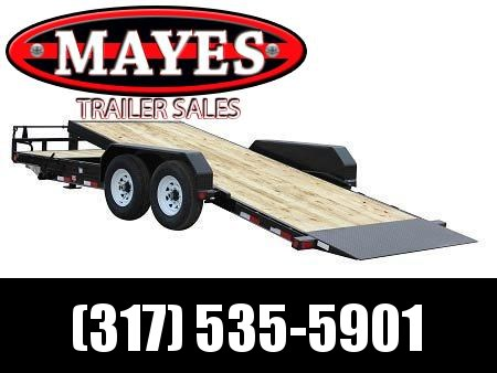 2021 PJ Trailers T6202 Equipment Trailer - 74x20 (4+16) TA Tilt - 6 Inch Channel Frame - Torsion Axles - 16 Foot Tilt Deck (GVW:  14000)