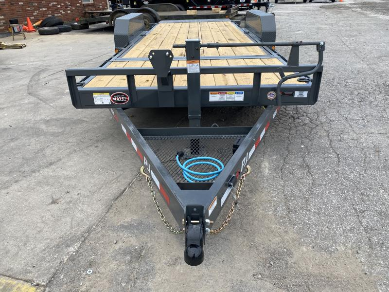 "2021 PJ Trailers 20'x6"" Channel Equipment Tilt Trailer - 74""x20' (4+16) TA Tilt - 6"" Channel Frame - Torsion Axle"