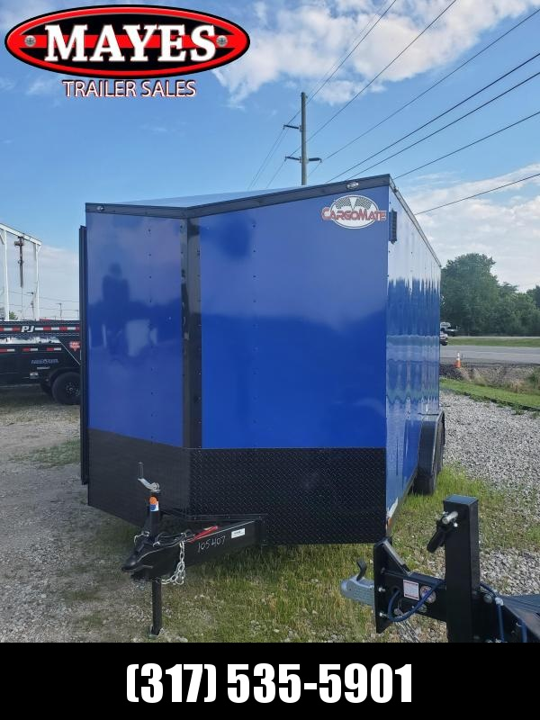 "2021 7x16 Cargo Mate EHW716TA2 Enclosed Cargo Trailer - Indigo Blue (RD)(GVW: 7000)(12"" Extra Height)"