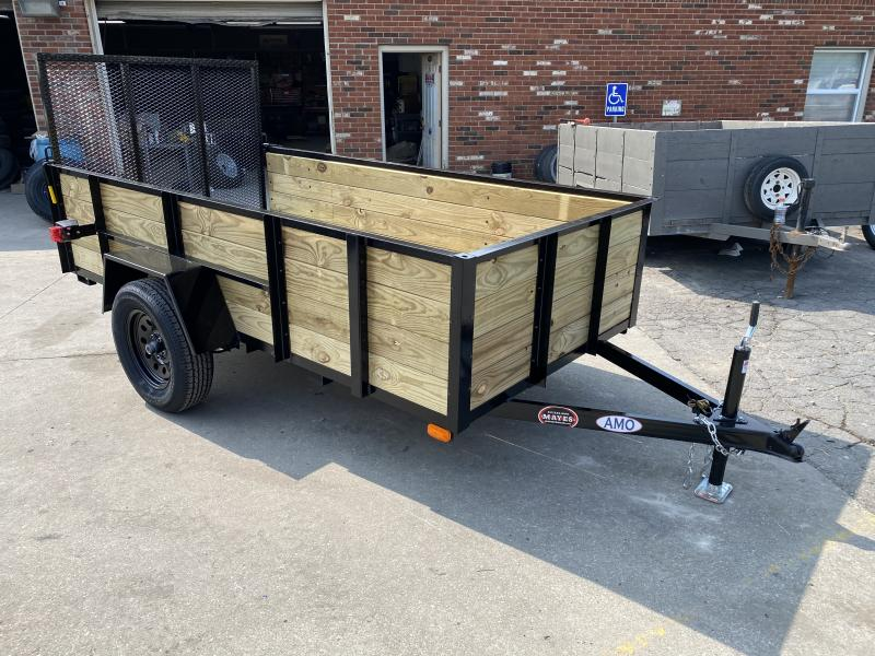 2021 American Manufacturing Operations (AMO) US101 Utility Trailer - 60x10 SA - High Sides - Tailgate - 2 Inch Coupler (GVW:  2990)