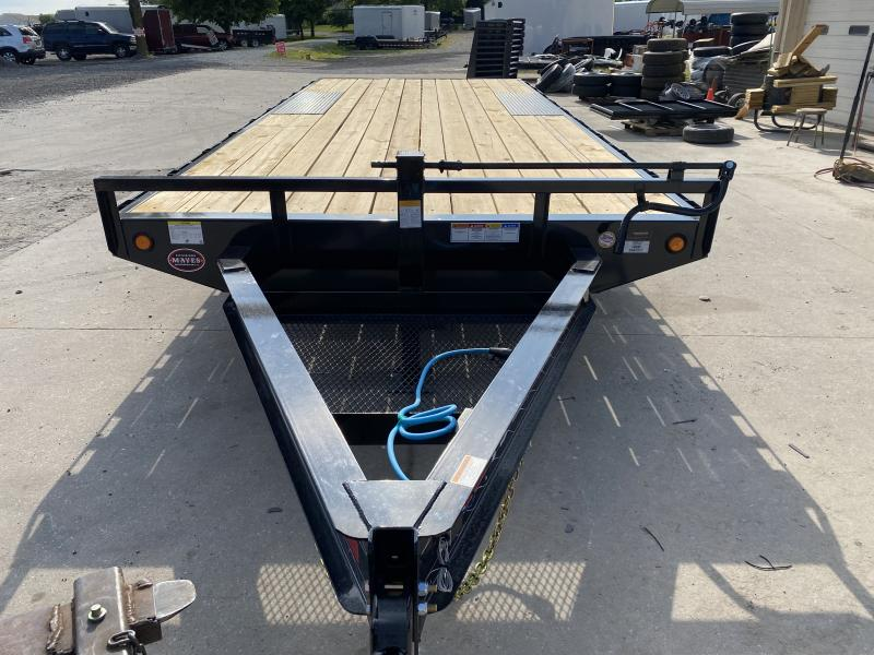 "2021 96x20 PJ Trailers F8 8"" I-Beam Deckover Trailer - Straight Deck w/ 6'6"" Slide-in Ramps (GVW: 14000)"