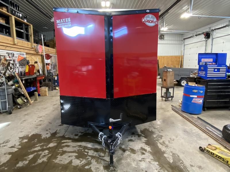 2022 Cargo Mate EHW612SA Enclosed Cargo Trailer - 6.5x12 SA - 6.5 Wide Body Design - Alum. Roof - Ramp Door - Side by Side Pkg - Black Out Pkg (GVW:  2990)