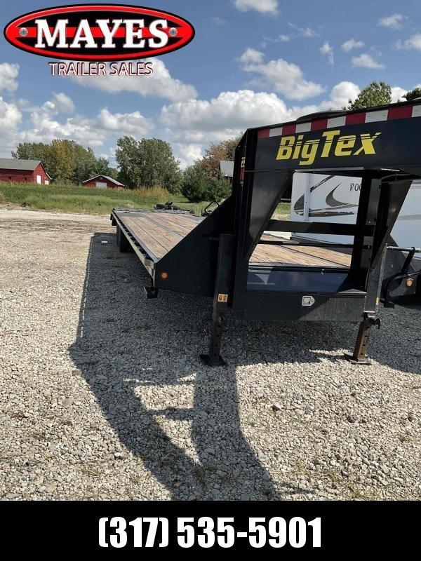 "2018 Big Tex Trailers 22gn Tandem Dual Flatbed Gooseneck Trailer- x35, (2) 10K axles, dual 12K Jacks, 2 5/16"" ball adj. square crank type"