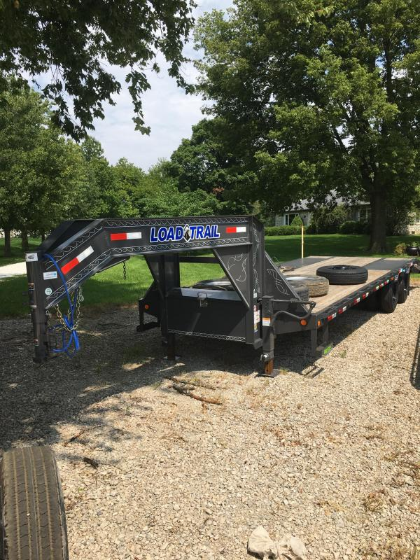 2020 102x28(23+5' Dovetail) Load Trail Low-Pro Gooseneck Deckover w/ Max Ramps (GVW: 22000)