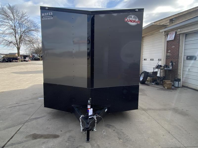 2021 Cargo Mate EHW716TA2 Enclosed Cargo Trailer - 7.5x16 TA - Ramp Door - E-Tracking - 12 Inch Additional Height - Black Out Pkg. - Side by Side Pkg. - 7.5 Wide Body Design - Alum. Roof - Rear Wing (GVW:  7000)