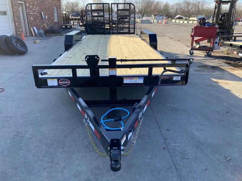 2021 PJ Trailers CC202 Equipment Trailer - 83x20 (18+2) TA - 6 Inch Channel Frame - Dovetail - Split HD Gate (GVW:  14000)