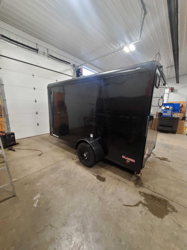2021 Cargo Mate BL612SA Enclosed Cargo Trailer - 6x12 SA - Ramp Door - Side Door - Black Out Package - 6 Inch Additional Height (GVW:  2990)