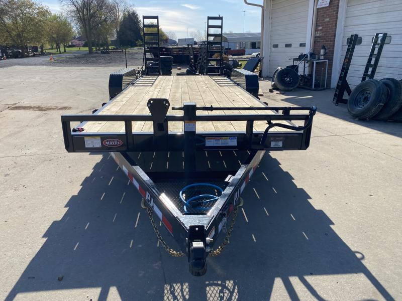 2021 PJ Trailers CC202 Equipment Trailer - 83X20 (18+2) TA - Dovetail - 5 Foot Fold Up Ramps - 6 Inch Channel Frame (GVW:  14000)