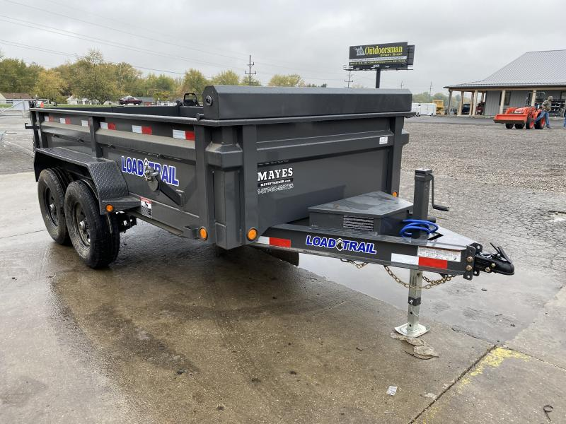 2021 Load Trail DT7212052 Dump Trailer - 72x12 TA Dump - 24 Inch Dump Sides - 2 Way Gate - Slide In Ramps - Scissor Hoist - Tarp Kit - Spare Tire MOUNT ONLY (GVW:  9990)