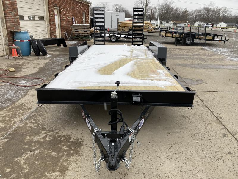 2021 American Manufacturing Operations (AMO) UC182 Equipment Trailer - 82x18 TA Equipment - Treated Wood Floor - LED Lights - Stand Up Ramps (GVW:  9990)