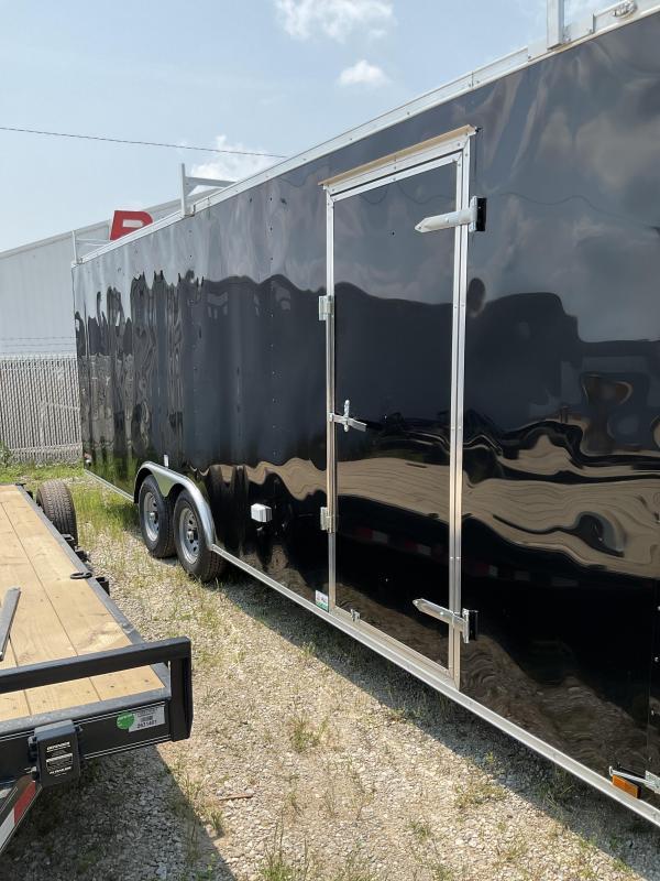 2022 Cargo Mate EHW8524TA3 Car / Racing Trailer - 8.5x24 TA - Ramp Door - Ladder Racks - 6 Inch Additional Height - 110V Package (GVW:  9800)