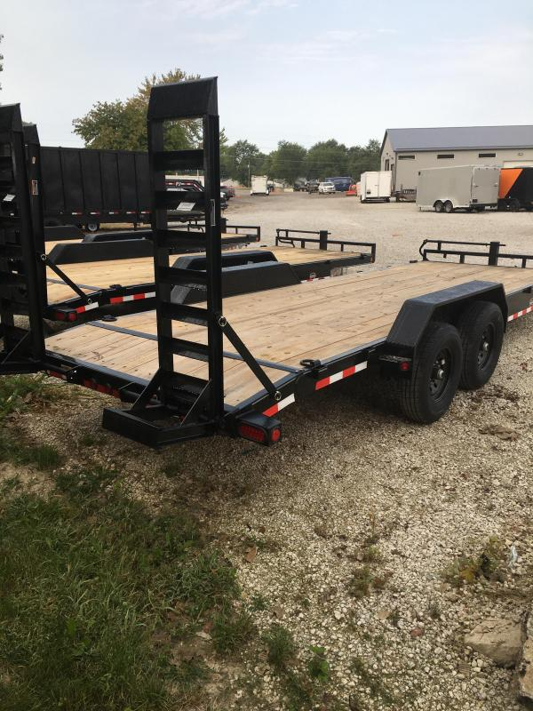 2021 Load Trail XH8322072 Car / Racing Trailer - 83X22 (20+2) TA - Dovetail - Fold Up Ramps - DP Fenders - D-Rings (GVW:  14000)