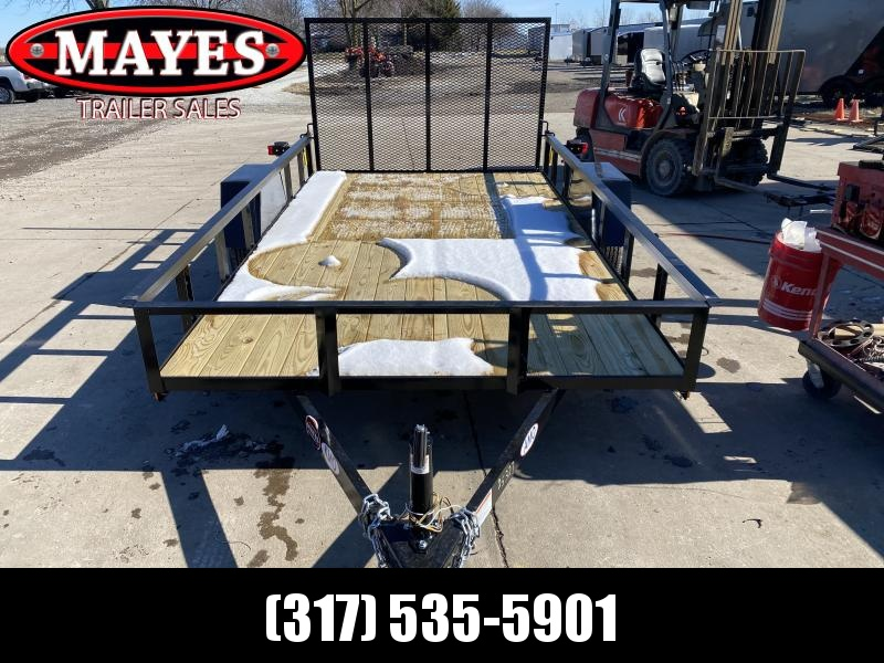 2021 American Manufacturing Operations (AMO) US121 Utility Trailer - 76x12 SAUT - Treated Wood Floor - Tailgate (GVW:  2990)