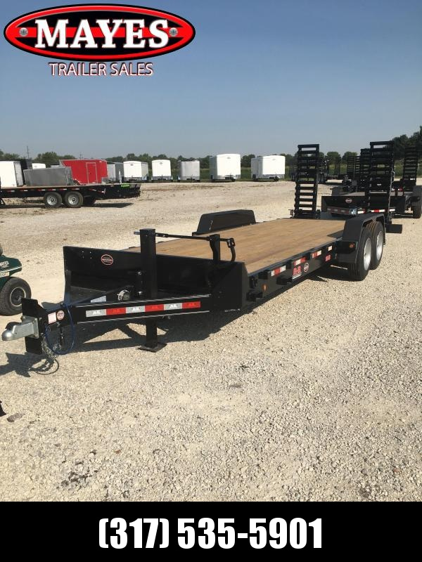 2021 B-B CBCT2216E-S Equipment Trailer - x22' (20+2) TA - Diamond Plate Dovetail - 8K Axles - D-Rings - Pallet Fork Holders - 5 Foot Spring Assist Flip Up Ramps (GVW:  16000)