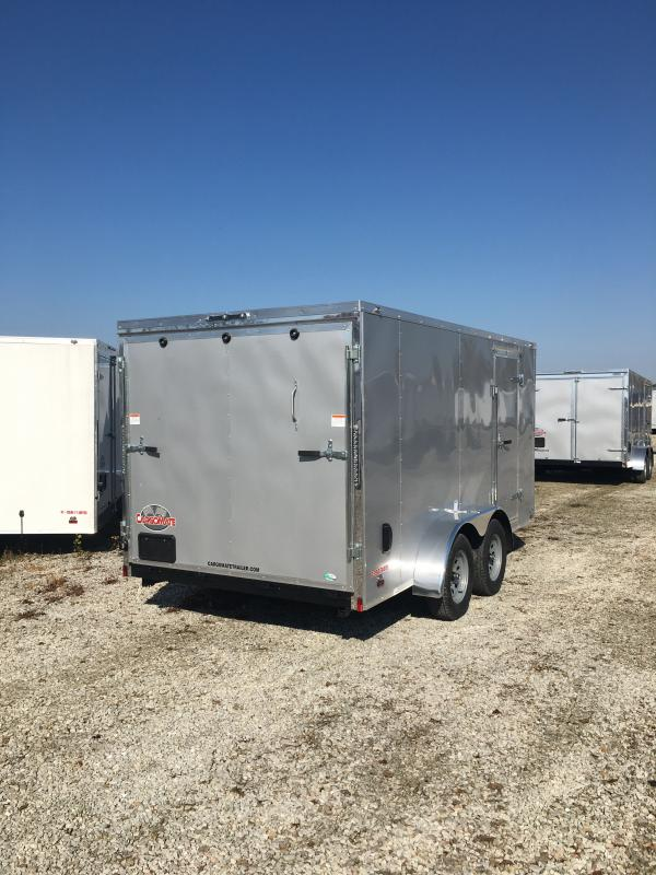 2021 Cargo Mate EHW714TA2 Enclosed Cargo Trailer - 7x14 TA - E & V Package 2 - Ramp Door - 24 Inch Stoneguard Upgrade - Stab Jacks (GVW:  7000)