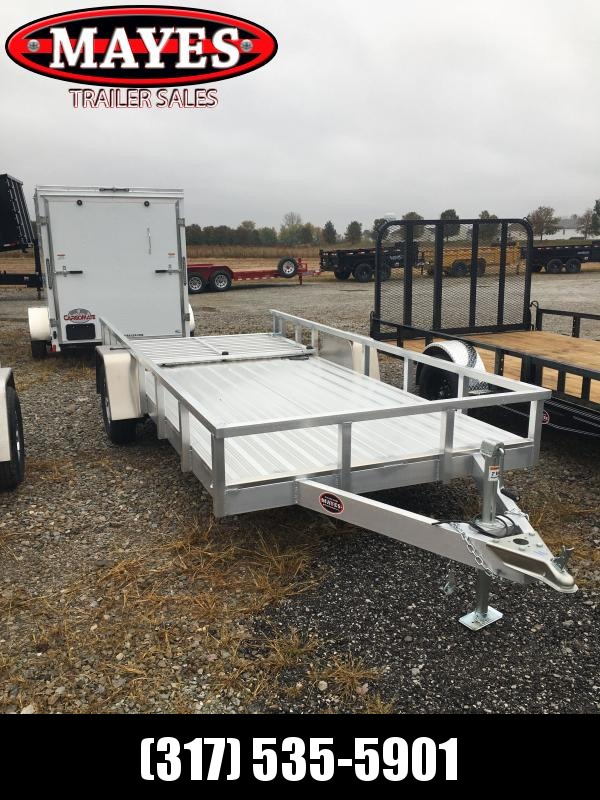 2021 Sport Trail OUA614 Utility Trailer - 6x14 SAUT - Alum. Floor - Rear Ramp Gate w/Dual Locking Positions - Ramp Gate Lays Flat (GVW:  2990)