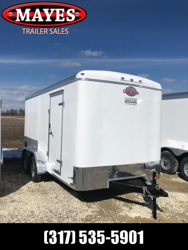2021 Cargo Mate BL714TA2 Enclosed Cargo Trailer - 7x14 TA - Ramp Door - Torsion Axles - E-Tracking BACKER PLATE ONLY(GVW:  7000)