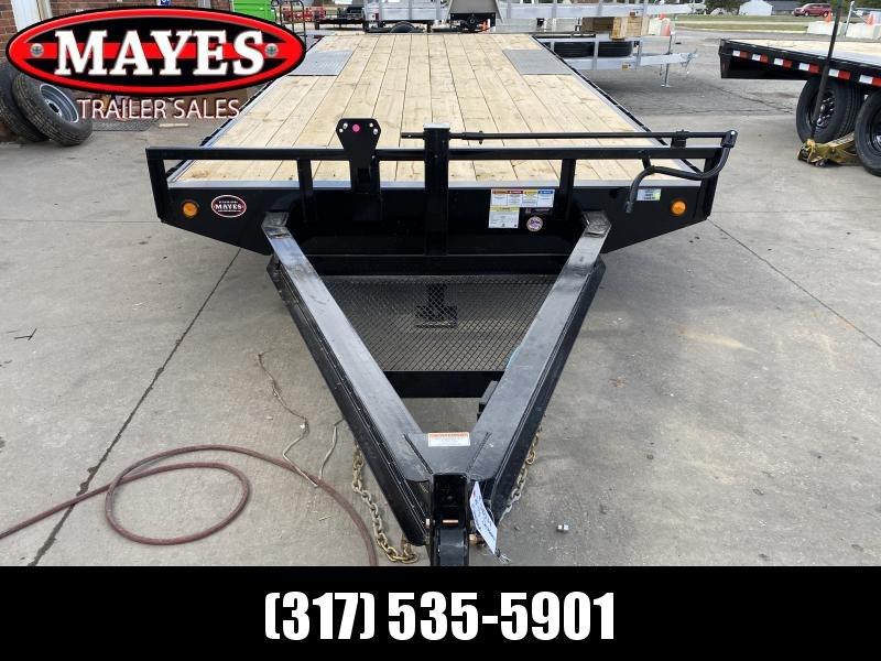 2021 PJ Trailers F8202 Equipment Trailer - 96x20 TA - Straight Deck - 8 Inch I-Beam Deckover - Slide In Ramps - Rub Rail & Stake Pockets (GVW:  14000)