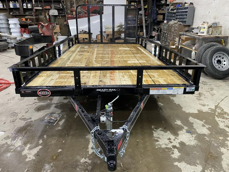2021 PJ Trailers U8141 Utility Trailer - 83x14 (12+2) SA - Dovetail - Fold Up Gate - ATV Ramps (GVW:  2995)