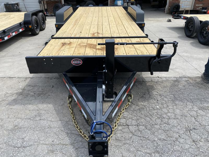 "2021 B-B TBCT2220ET-10K-XL Equipment Trailer - 22' (4+18) TA Partial Tilt Trailer - Torflex Axles - Pallet Fork Holders - 12"" OC Crossmembers - Fender Guides (GVW:  20000)"